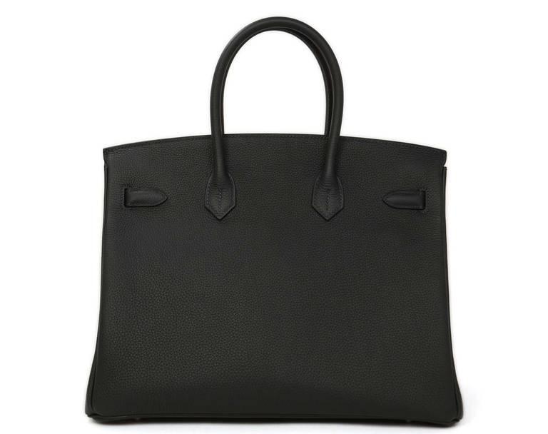 abc820acd38a Hermes NIB 2014 35cm Togo Blue Bleu Ocean Birkin Bag PHW In New Condition  For Sale