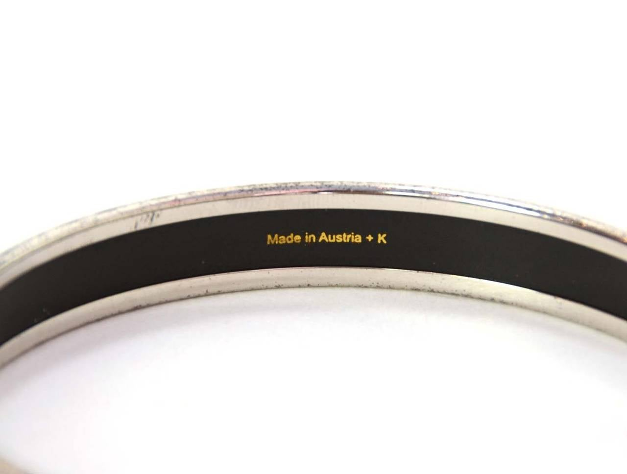 Hermes Caleche Narrow Enamel Bangle