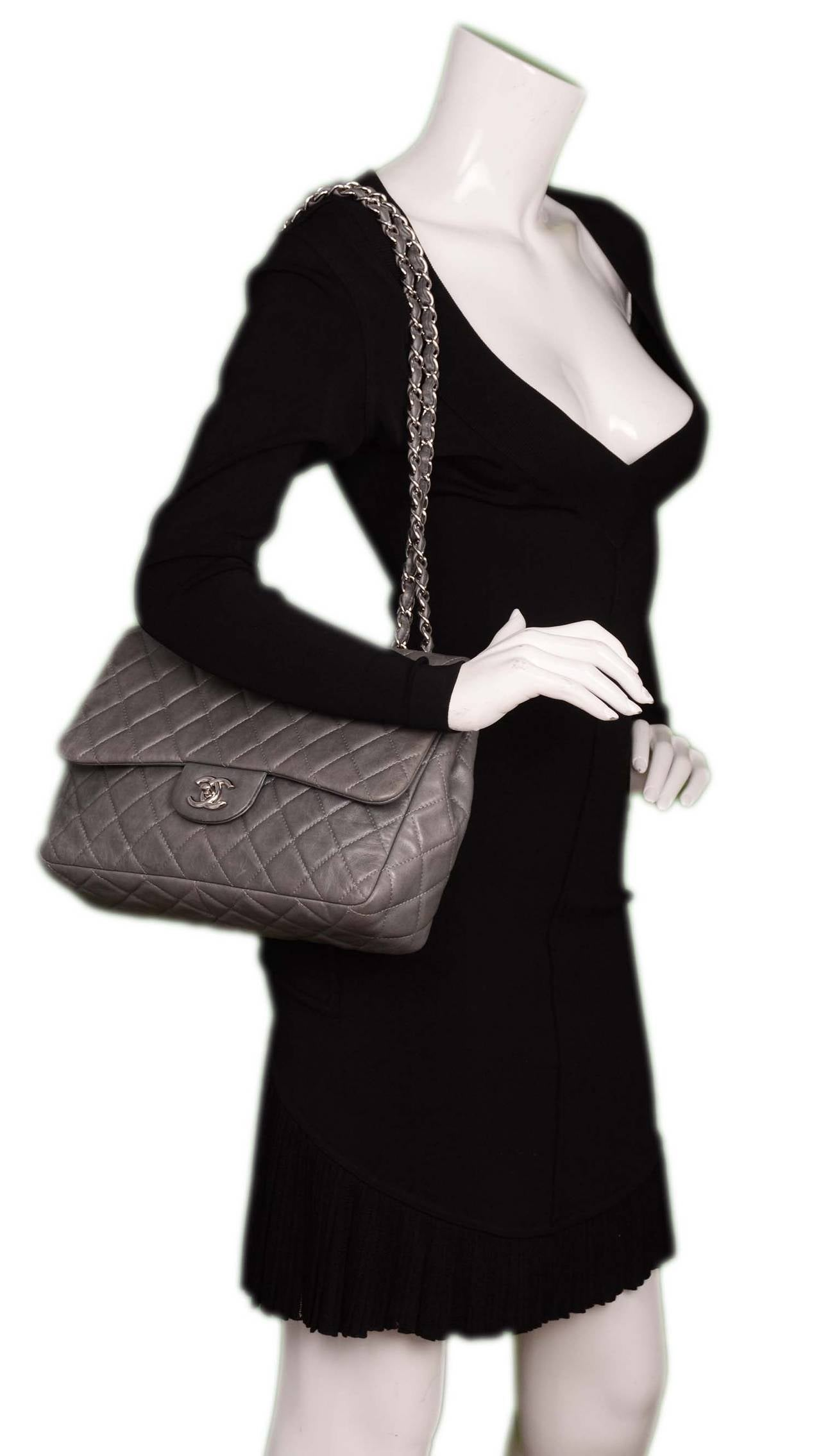 Grey Quilted Chanel Bag Chanel Grey Quilted
