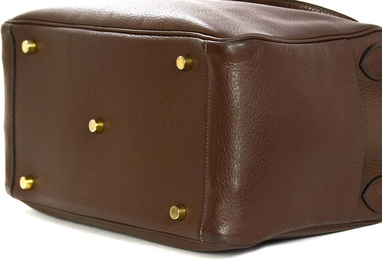 HERMES 30CM Brown Togo Leather Lindy Bag W/GHW Rt. $7,750 at 1stdibs