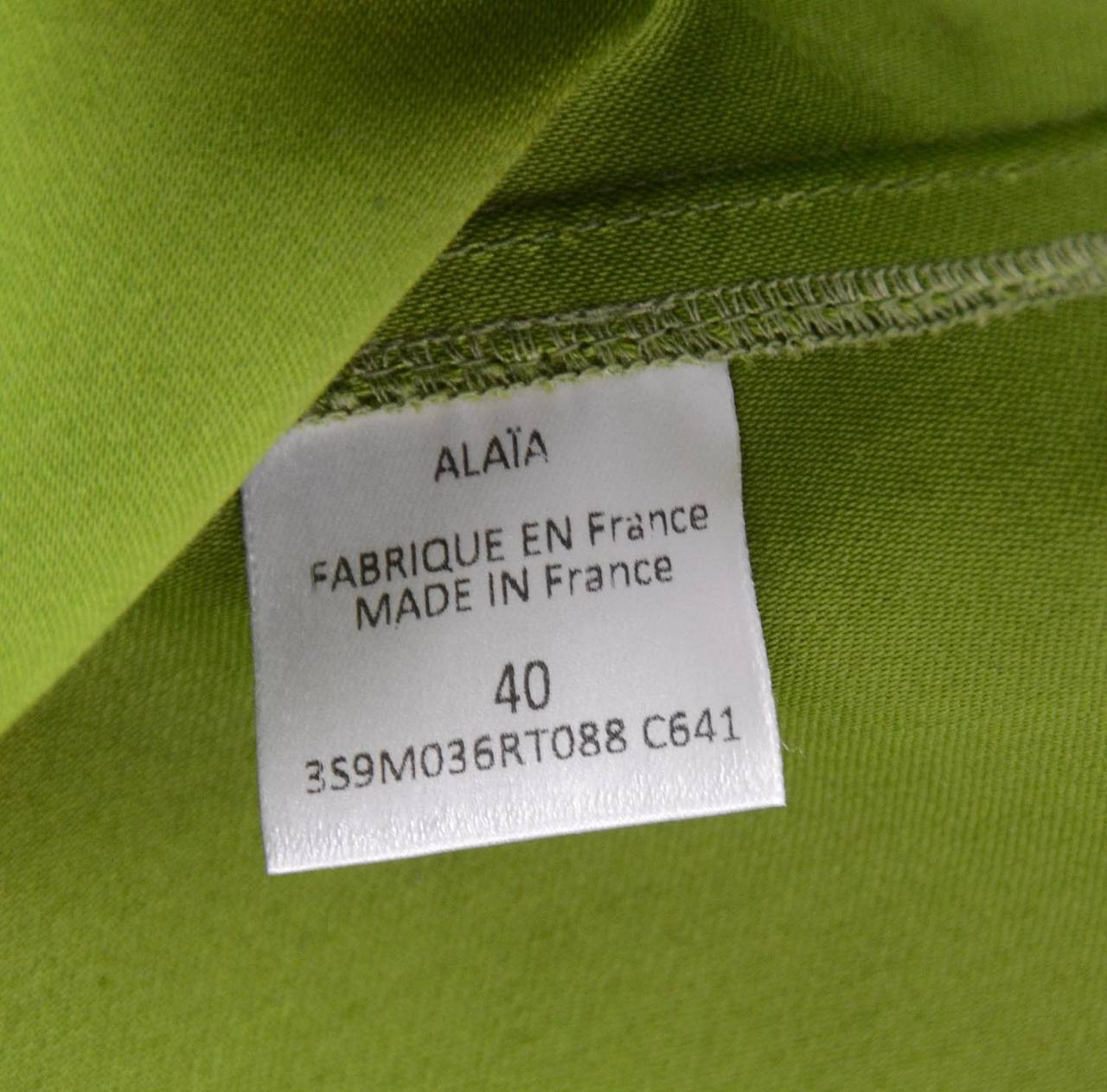ALAIA Green Cotton Flare Double Breasted  Coat Sz 40 6