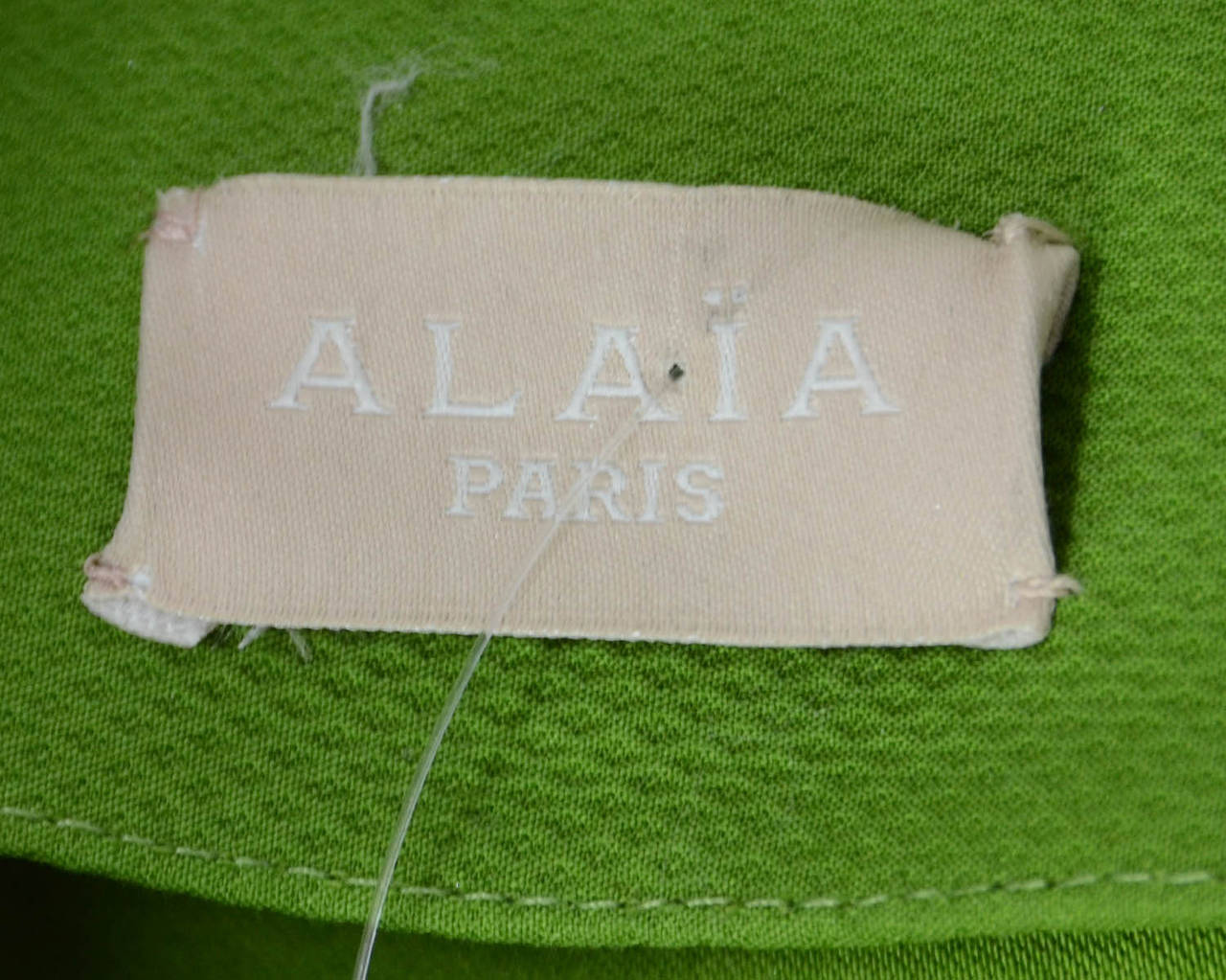 ALAIA Green Cotton Flare Double Breasted  Coat Sz 40 5