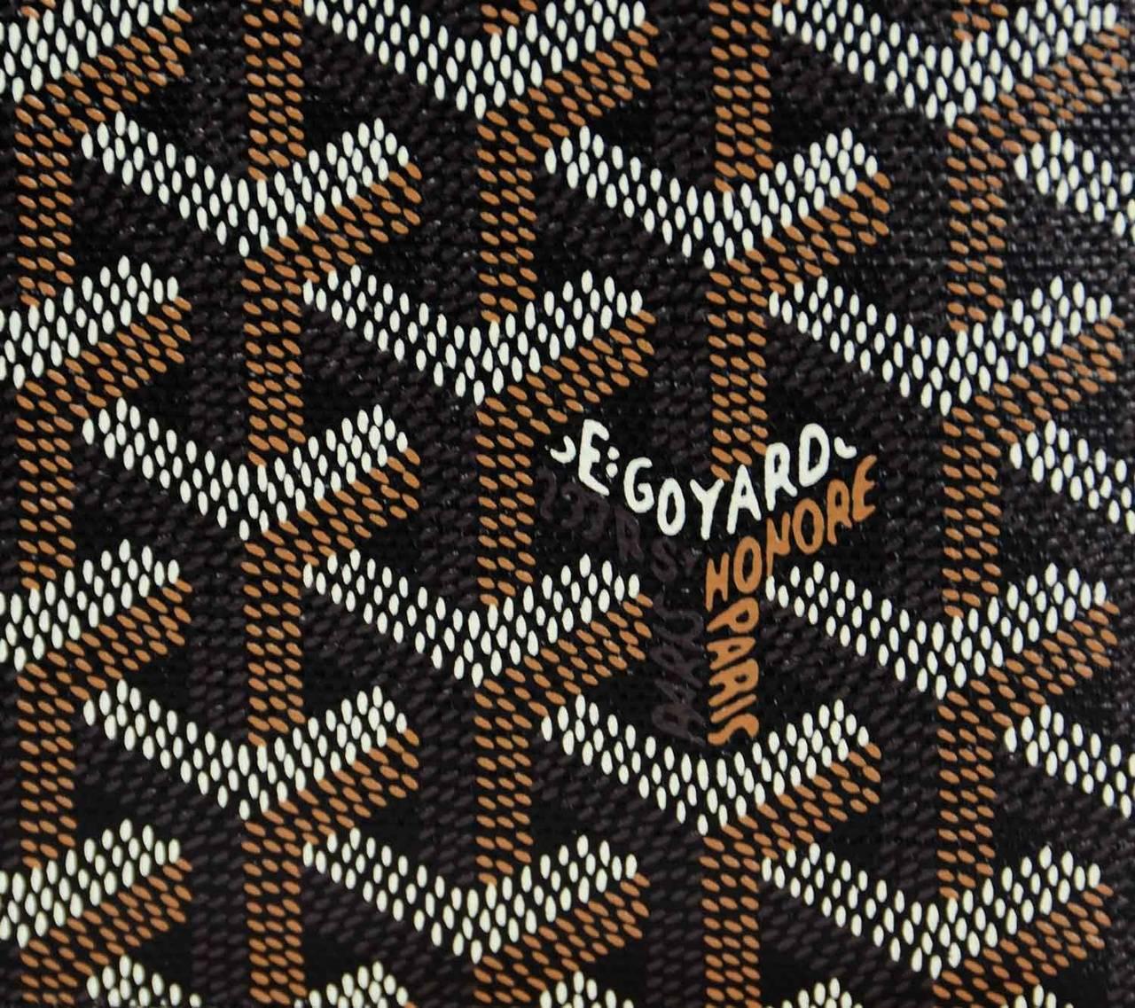 Goyard Black Coated Canvas Chevron Print Bifold Wallet At