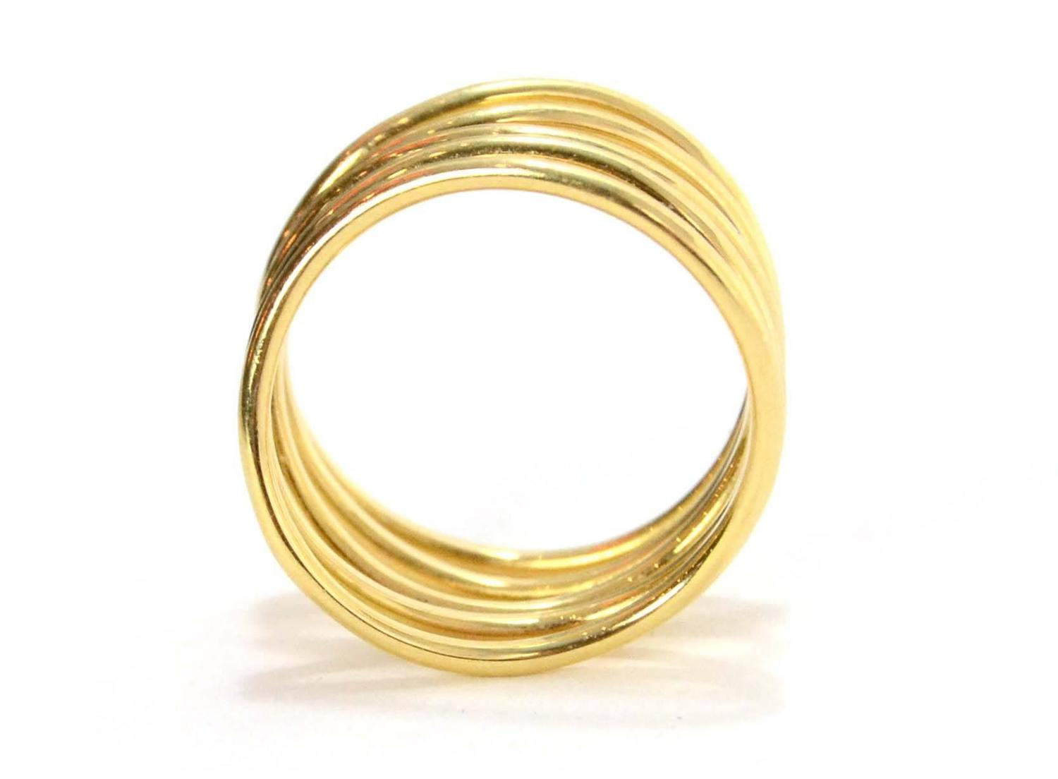 and co 18k gold wave ring sz 5 5 at 1stdibs