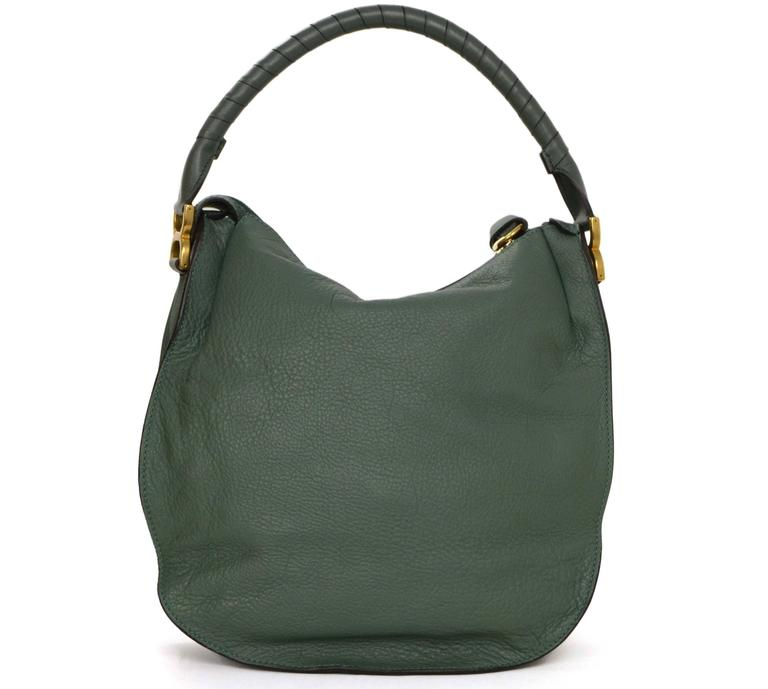 Chloe Green Leather Medium Marcie Hobo Bag GHW at 1stdibs