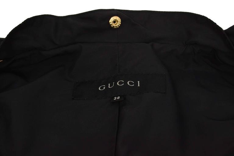 Women's Gucci Black Rain Jacket & Removable Fur Vest sz 38 For Sale