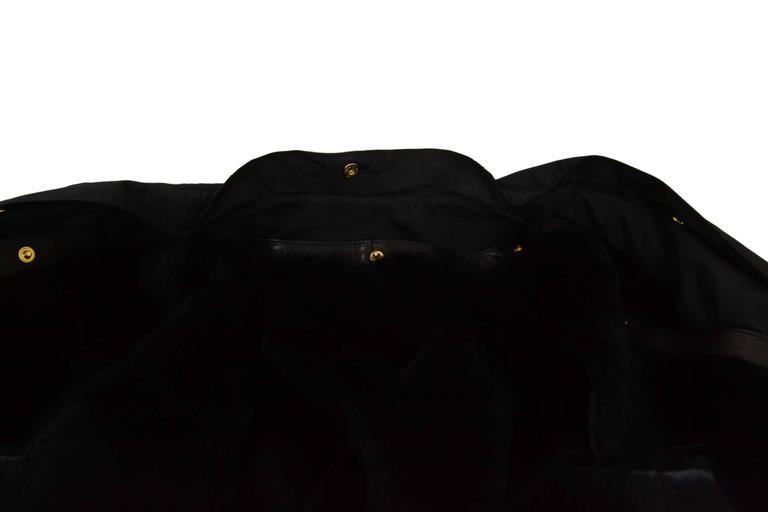 Gucci Black Rain Jacket & Removable Fur Vest sz 38 For Sale 1