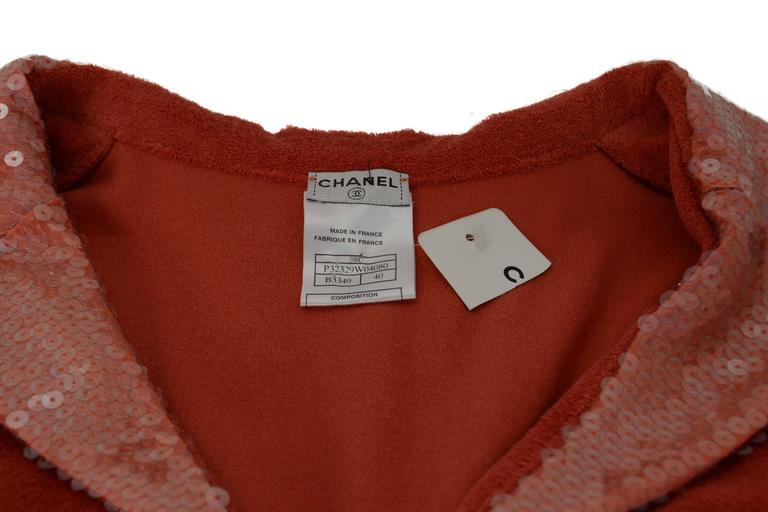 Chanel Coral Terrycloth Sleeveless Top sz 40 4
