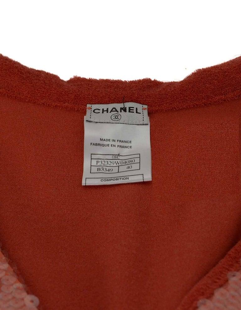 Chanel Coral Terrycloth Sleeveless Top sz FR40 5