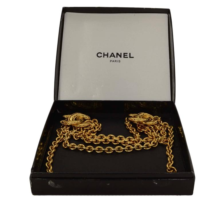 Chanel Vintage '90s Gold Chain Link Belt 5