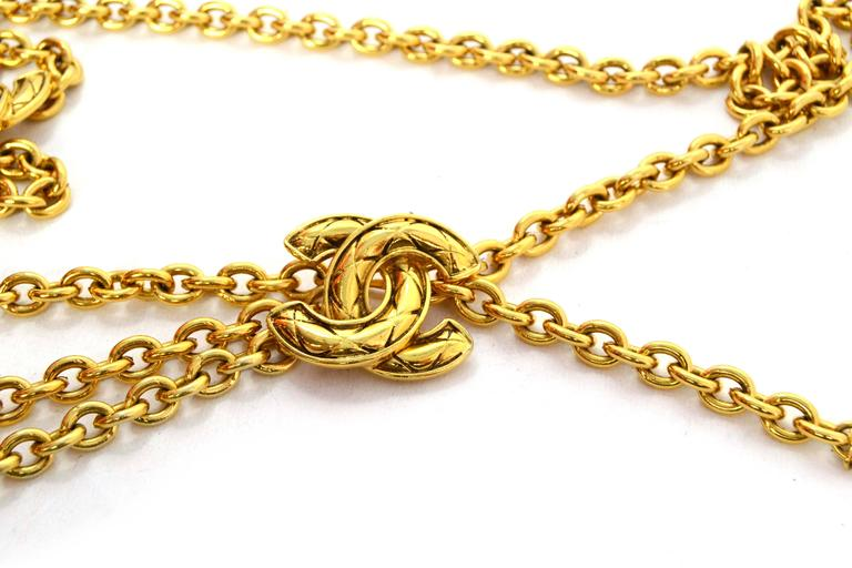 Chanel Vintage '90s Gold Chain Link Belt 2