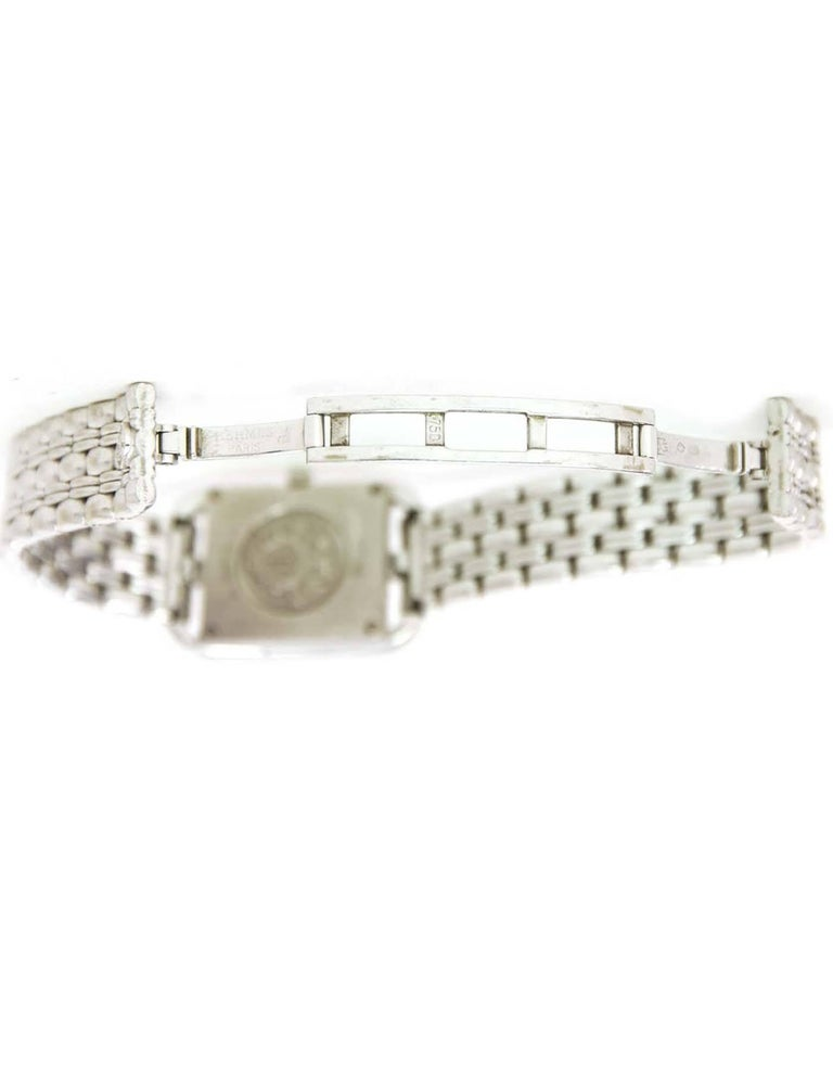 Hermes Lady's 18k White Gold & Diamond Cape Cod PM Wristwatch 5