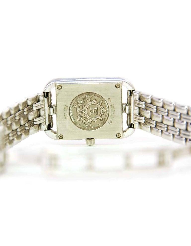 Hermes Lady's 18k White Gold & Diamond Cape Cod PM Wristwatch 6
