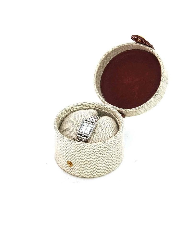 Hermes Lady's 18k White Gold & Diamond Cape Cod PM Wristwatch 7