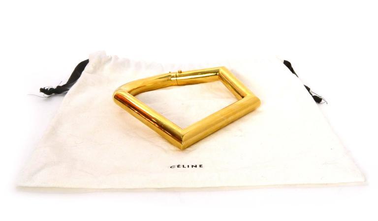 Celine Gold Geometric Choker Necklace 4
