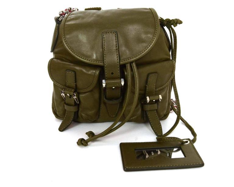 Balenciaga Olive Green Crossbody Bag SHW For Sale 3