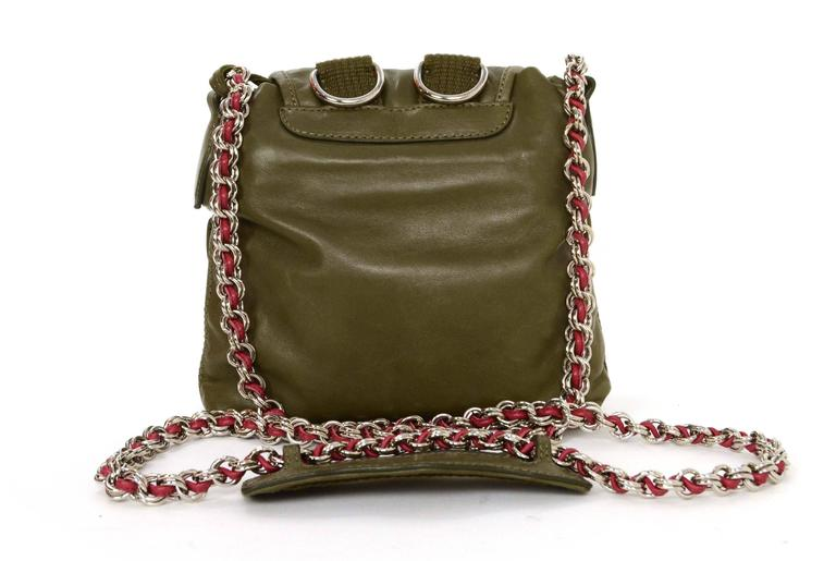 Balenciaga Olive Green Crossbody Bag SHW In Excellent Condition For Sale In New York, NY