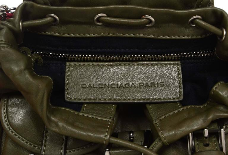 Balenciaga Olive Green Crossbody Bag SHW For Sale 1
