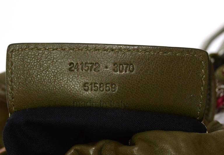 Balenciaga Olive Green Crossbody Bag SHW For Sale 2