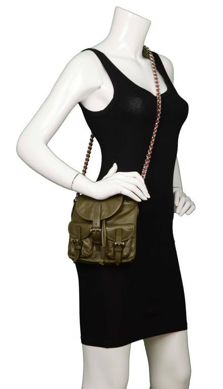 Balenciaga Olive Green Crossbody Bag SHW For Sale 4