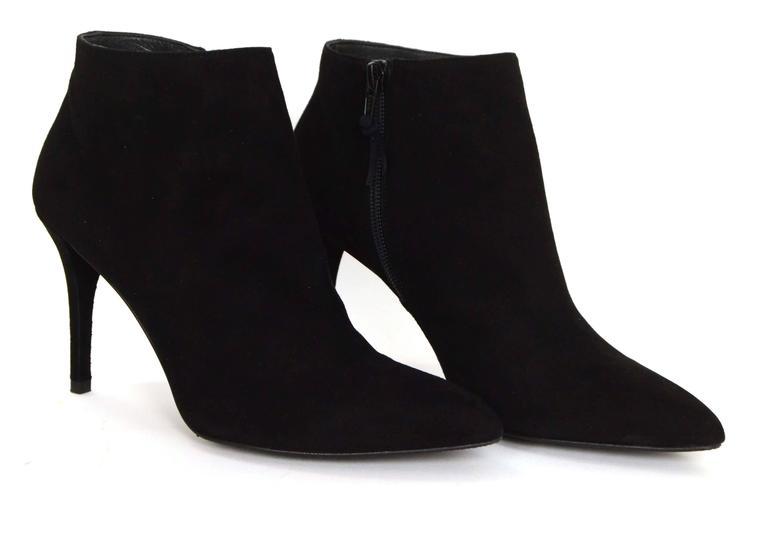 Women's Stuart Weitzman Black Suede Carltone Booties sz 7.5 rt. $500 For Sale