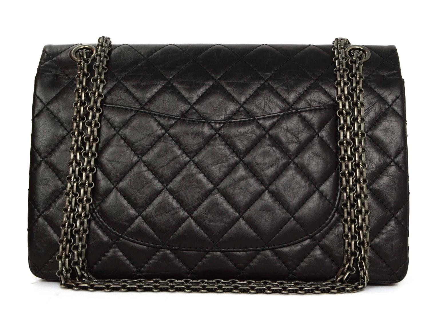 CHANEL SHOULDER BAG, datecode for 2005-6, black leather with stitched ...