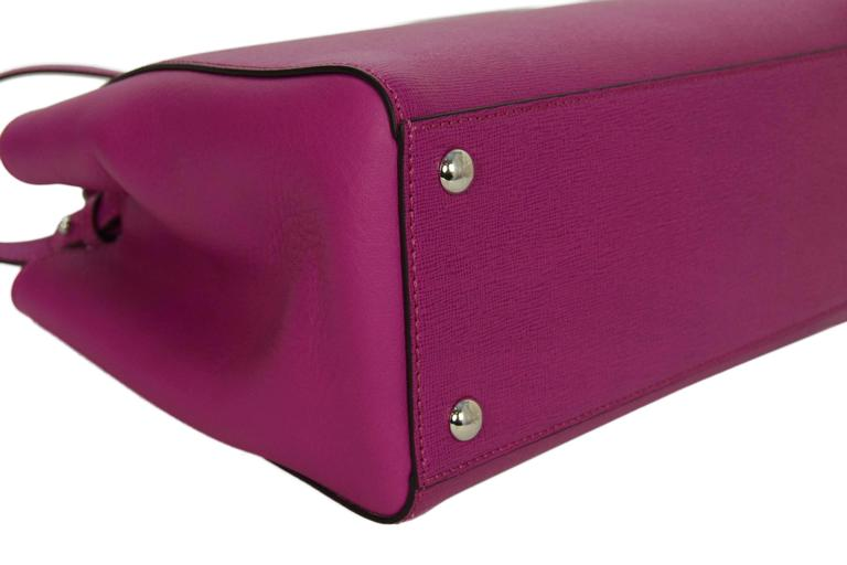 Fendi Magenta Pink 2Jours Petite Saffiano Shopper Tote Bag 4