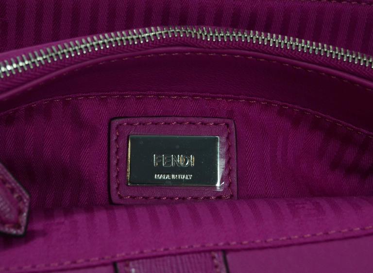 Fendi Magenta Pink 2Jours Petite Saffiano Shopper Tote Bag 7