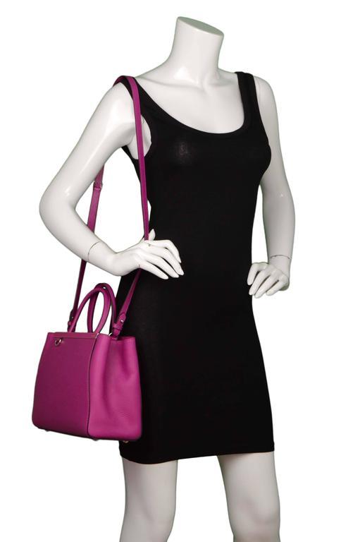 Fendi Magenta Pink 2Jours Petite Saffiano Shopper Tote Bag 10