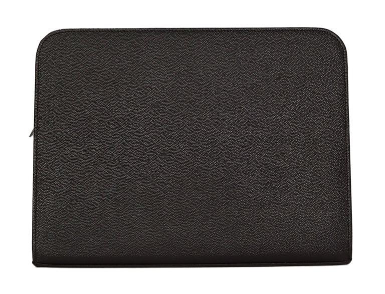 Saint Laurent Black Leather iPad Case/Clutch Bag rt $560 3