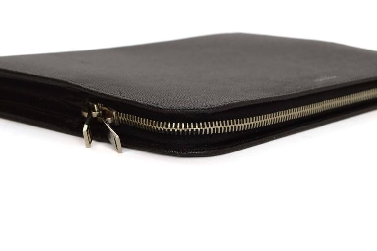 Saint Laurent Black Leather iPad Case/Clutch Bag rt $560 4
