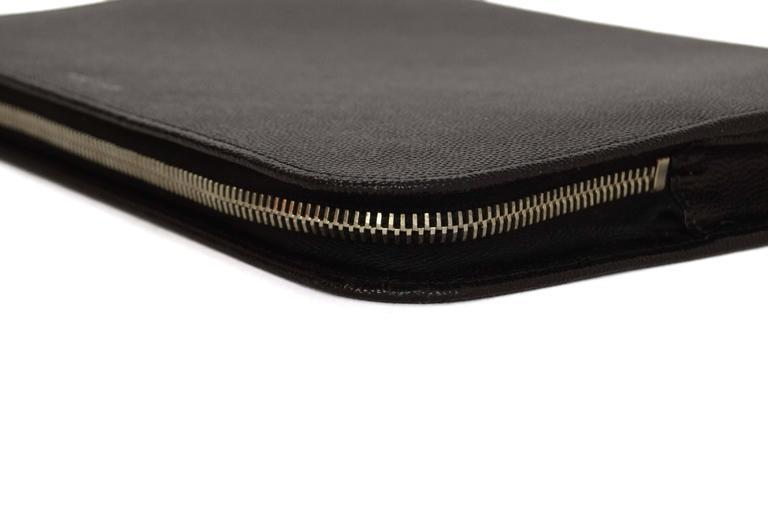 Saint Laurent Black Leather iPad Case/Clutch Bag rt $560 5