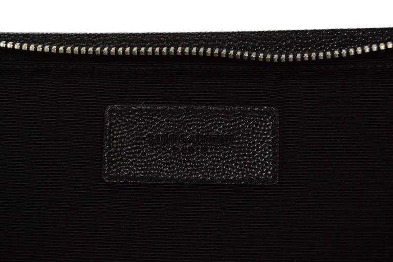 Saint Laurent Black Leather iPad Case/Clutch Bag rt $560 7