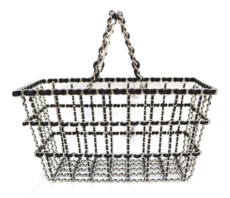 ffb62fc2e192 Chanel NEW Limited Edition Runway Grocery by Chanel Shopping Basket ...