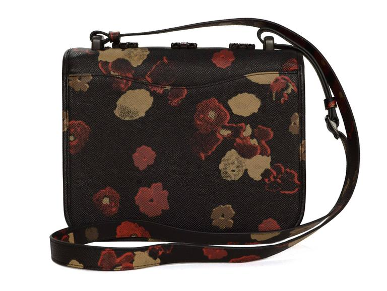 Coach Floral Satchel Crossbody Bag W/ Crystal Accents For Sale At 1stdibs