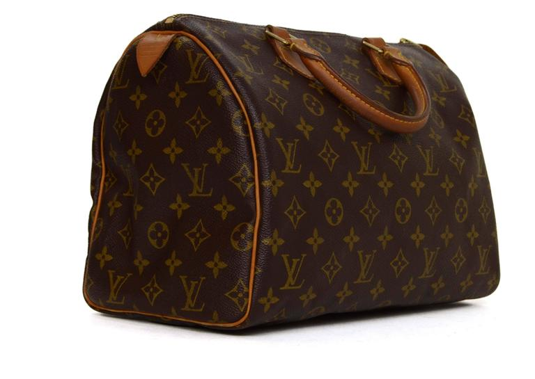 7ef989244b6 Louis Vuitton Monogram Canvas 30cm Speedy Bag Made In  France Year of  Production  2001
