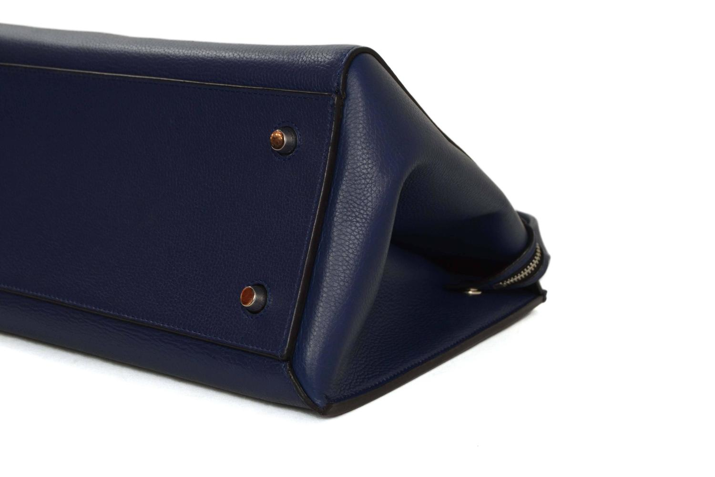 celine original bag price - Celine Blue Leather Medium Edge Tote Bag SHW For Sale at 1stdibs