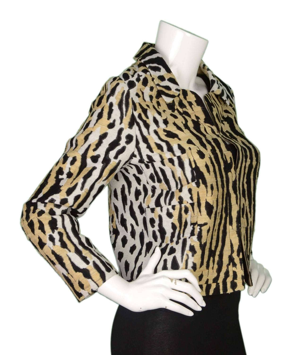 cropped hair styles valentino leopard print cropped jacket sz 8 for at 4230