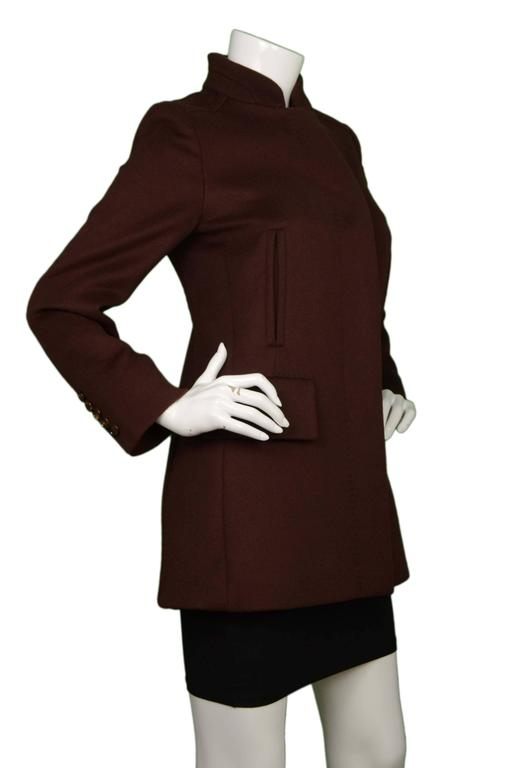 Max Mara Brown Single Breasted Wool Coat sz 6 2
