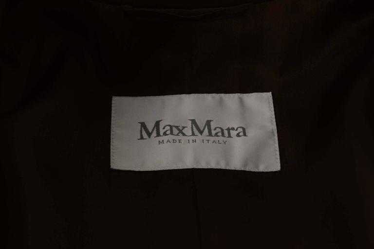 Max Mara Brown Single Breasted Wool Coat sz 6 4