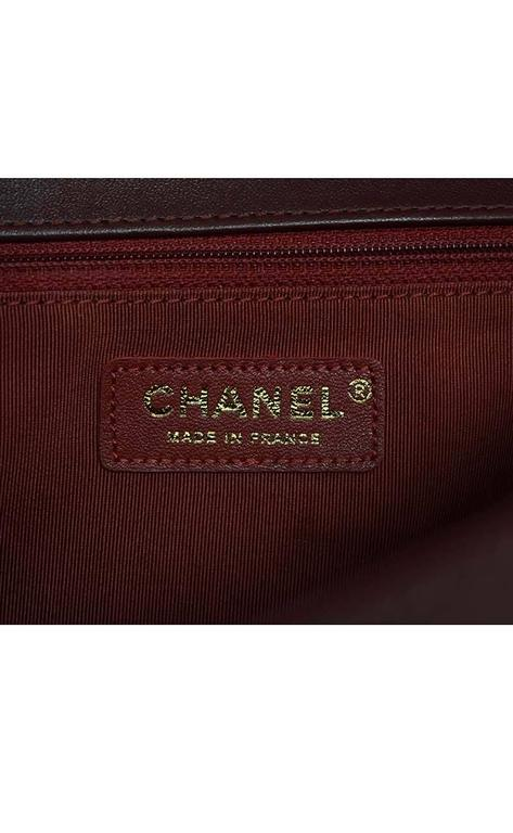 Chanel '15 Burgundy Leather New Medium Boy Bag GHW 7