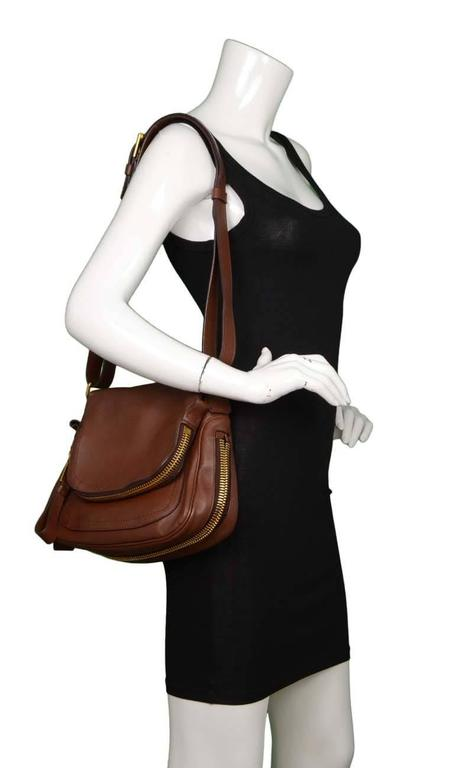 tom ford brown leather  u0026 39 jennifer aniston u0026 39  crossbody bag ghw at 1stdibs