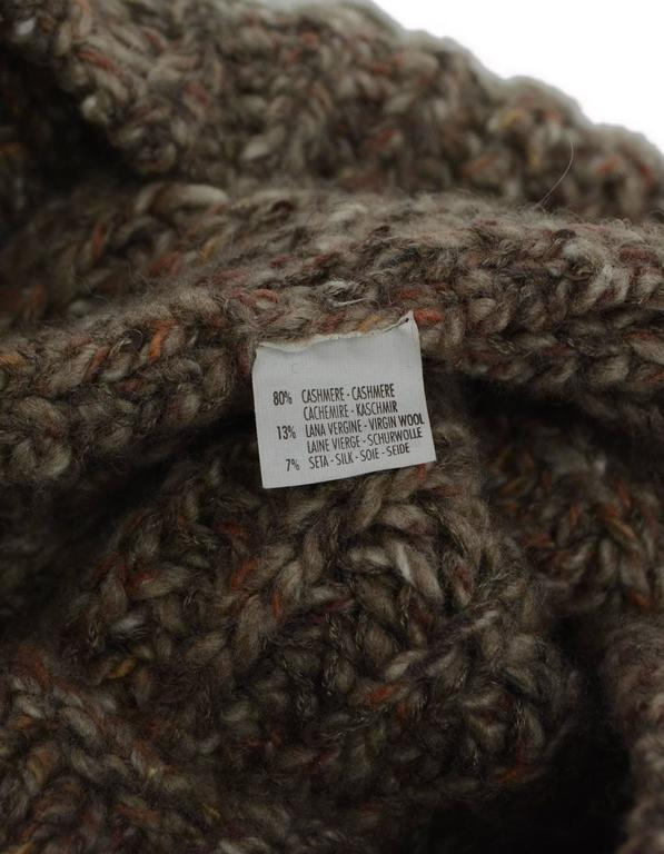Brunello Cucinelli Brown Knit Cashmere Snood 2