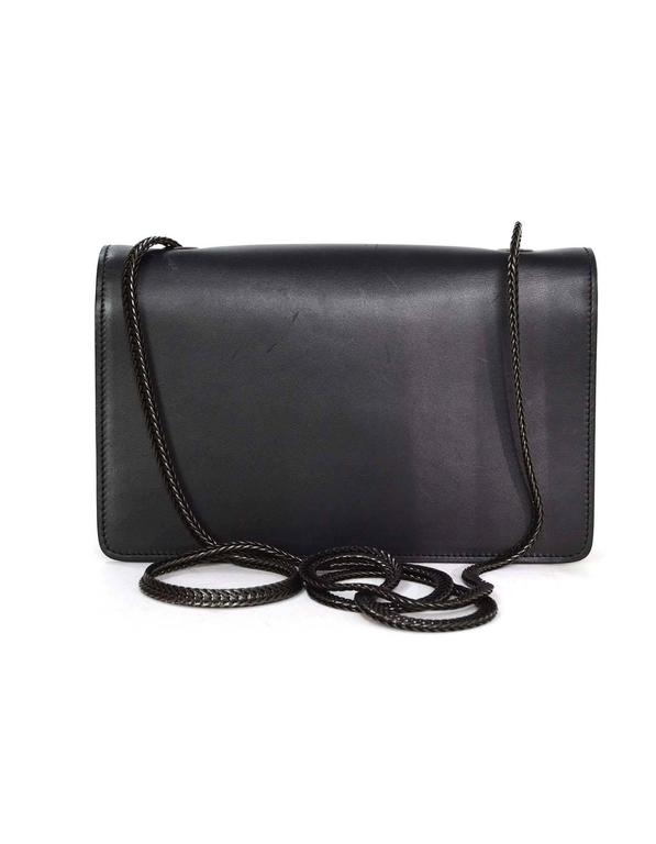 Saint Laurent Black Leather Small 'Betty' Crossbody Bag BHW 3