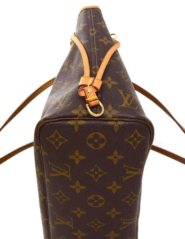 Women's Louis Vuitton Monogram Canvas Neverfull PM Tote Bag GHW For Sale