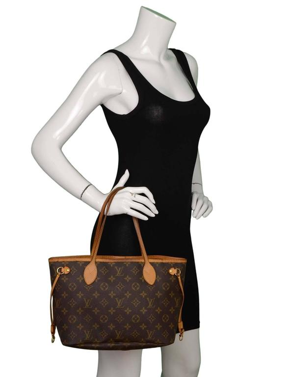 Louis Vuitton Monogram Canvas Neverfull PM Tote Bag GHW 9