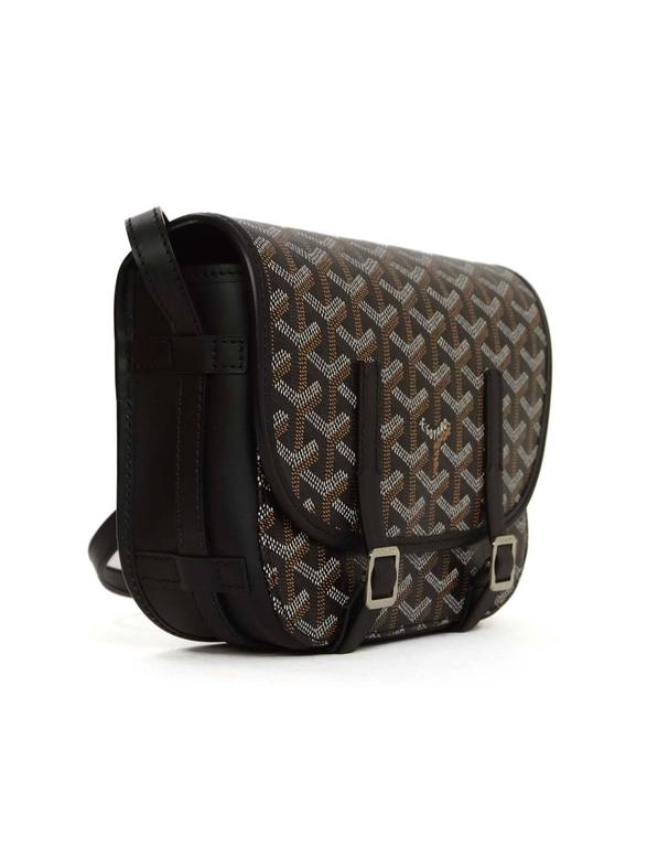 Goyard Black And Navy Chevron Print Belvedere Pm Crossbody