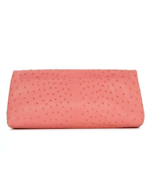 Nancy Gonzalez Pink Ostrich Clutch Bag GHW 4