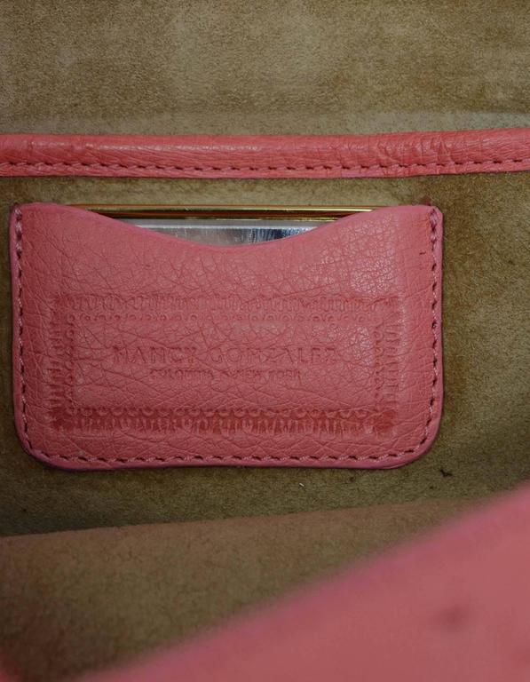 Nancy Gonzalez Pink Ostrich Clutch Bag GHW 7