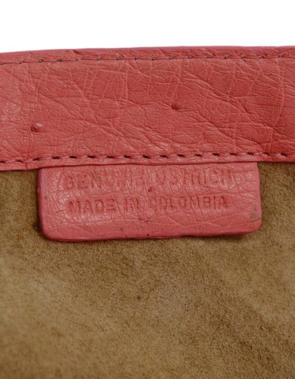 Nancy Gonzalez Pink Ostrich Clutch Bag GHW 8